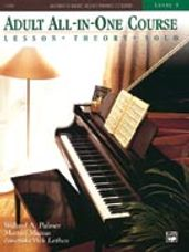 Alfred's Basic Adult All-in-One Piano Lesson-Theory-Technique-Repertoire Book 3