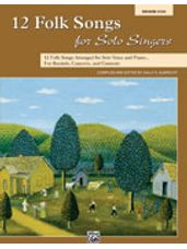 12 Folk Songs for Solo Singers (Book)