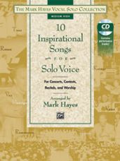 10 Inspirational Songs for Solo Voice (Med High Book & CD)
