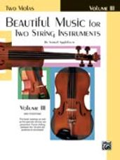Beautiful Music for Two String Instruments, Book III [2 Violas]