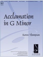Acclamation in G Minor 2 to 3 octaves